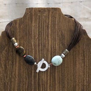 Silpada Cord and stone Necklace